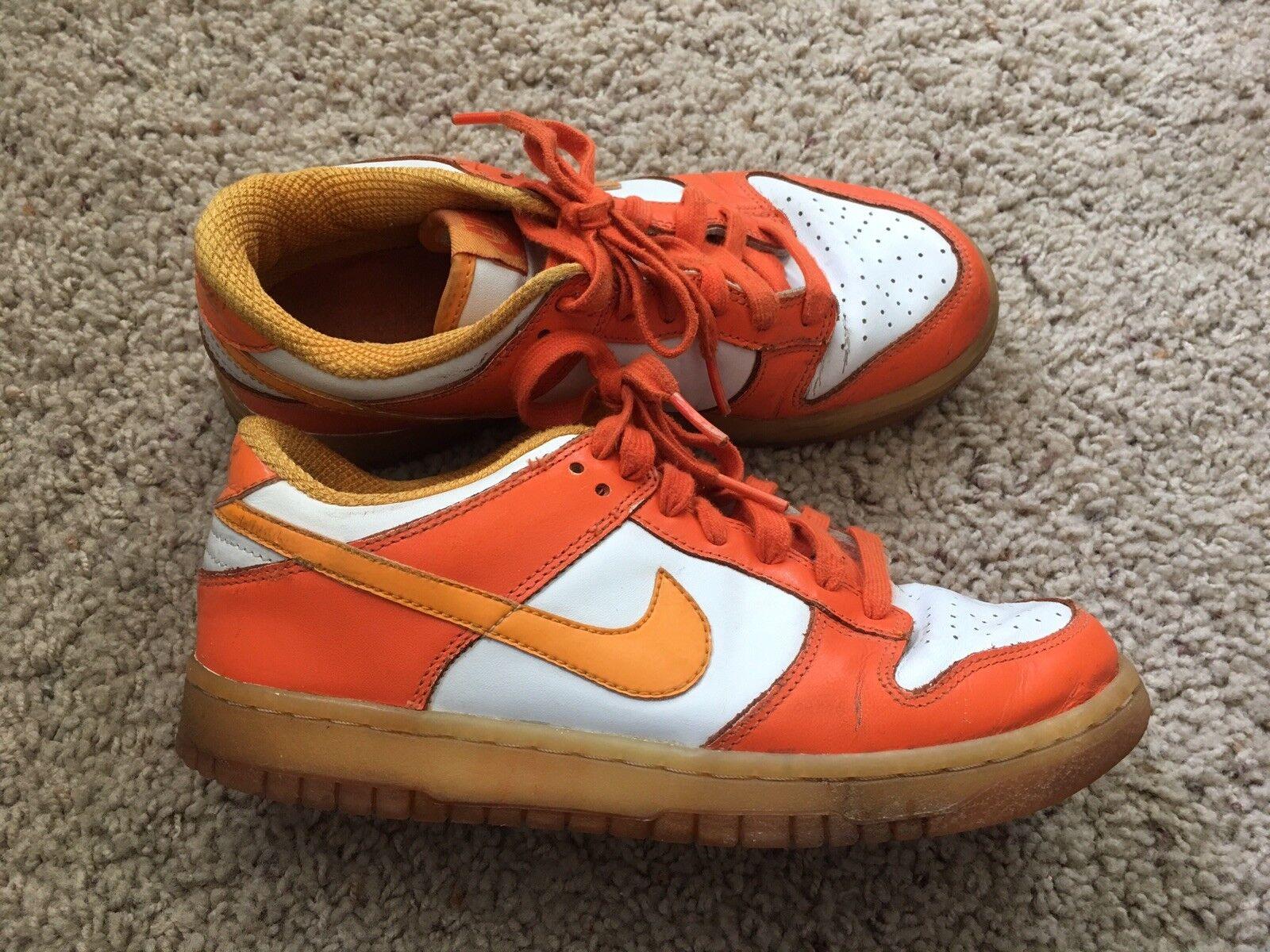 Nike Dunk Low Pro Shock Orange White Blaze Men 7.5 Preowned 2006