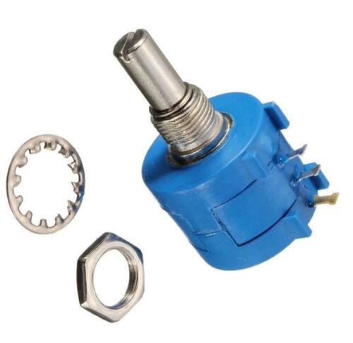 3590S Precision Wirewound Potentiometer 500R1K2K5K10K20K50K100K Ohm Pot 10Turn