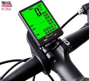 US SHIP Waterproof Wireless Bike Bicycle Computer Cycle Odometer Speedometer LCD