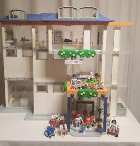 Details Zu Playmobil Krankenhaus 4404 Mit 3 Etagen Motorrad Und Schöner Einrichtung