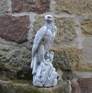 massif sculpture en pierre aigle gris oiseau décoration de jardin ...