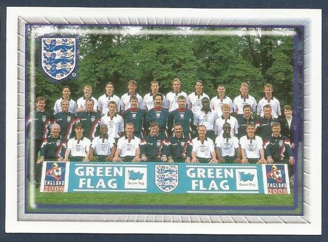 MERLIN-OFFICIAL ENGLAND 1998 WORLD CUP- #136 TEAM PHOTO-DAVID BECKHAM-BACK ROW
