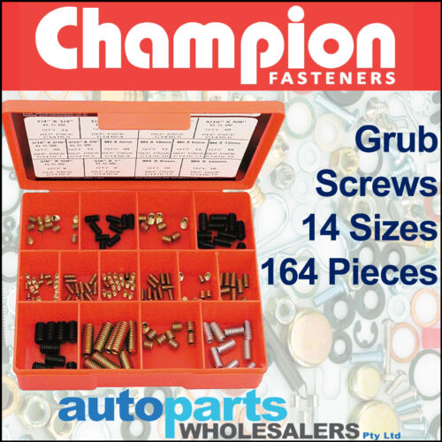 CHAMPION KIT GRUB SCREWS ASSORTMENT 164 Pieces