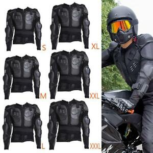 Moto-Body-Armor-Protector-Jacket-Spine-Poitrine-Protection-d-039-epaule-Monter