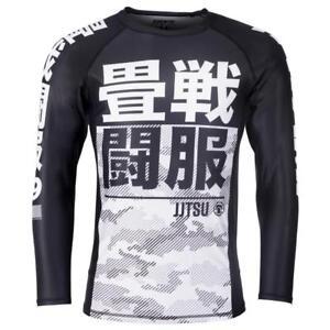 Brillant Tatami Enfants Essentielle Camouflage Rash Guard Blanc Compression Bjj Gym Jiu Lustre Brillant