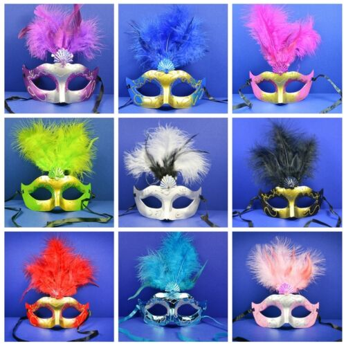 Lot of 50 Mixed Costume Party Mask Masquerade Mardi Gras Halloween Quince Masks