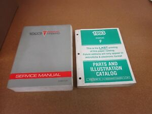 ORIGINAL 1993 Pontiac Firebird shop service wiring manual ...