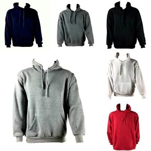 Adult Men's Unisex Blank Plain Colour Adult Hoodie Jumper Pullover Basic Casual