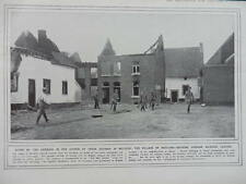 1914 GERMAN LEAVING DESTROYED BELGIAN VILLAGE OF MOULAND WWI WW1