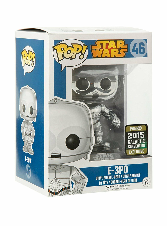 POP Vinilo Star Wars E-3PO Cromo  convenio especial figura
