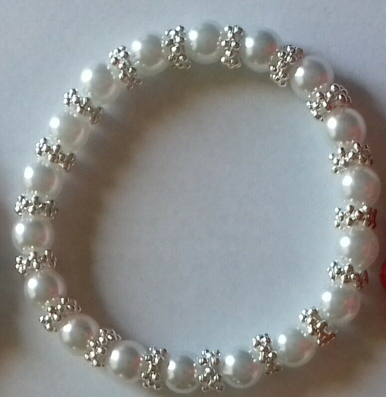 Beautiful Faux Pearl and Bling Jewellery. Hand-made. Wedding/Valentine/Prom. Uk