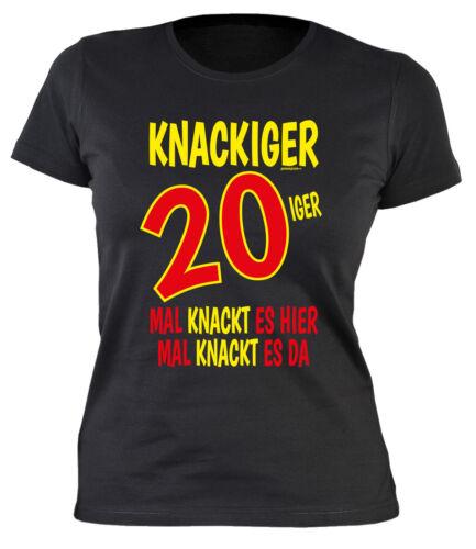 Geburtstag 20 Jahre Damenshirt 20 Geburtstag Sprücheshirt Mädchen Sprüche 20