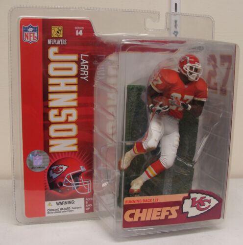 Larry Johnson, Kansas City Chiefs- red jersey NFL series 14 McFarlane figure