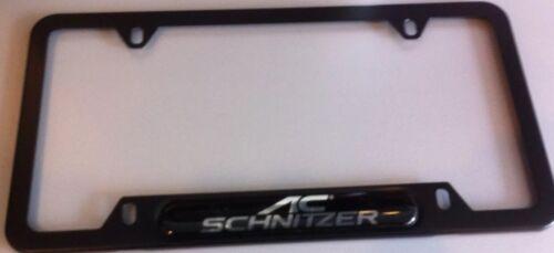 Ac-schnizer License Plate Frame Ac-schnizer Logo Made In Germany Black Genuine