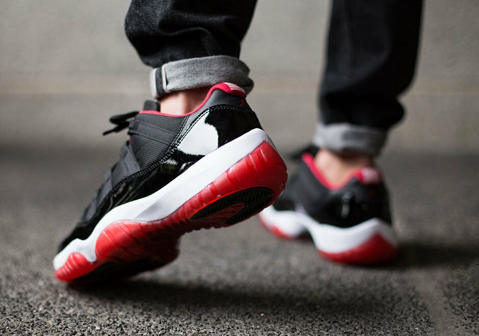 competitive price a6d13 c995c 30%OFF Air Jordan 11 XI Retro Low Black Red Bred 2015 528895-012 concord  cement