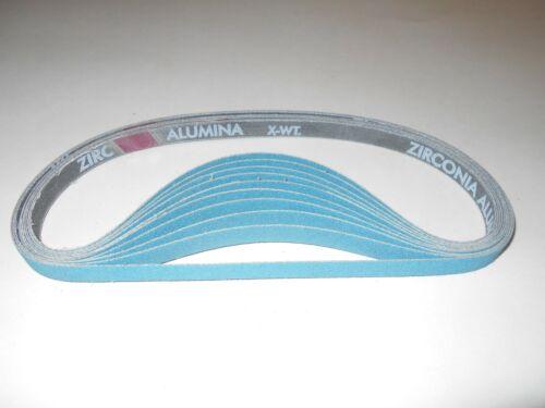 "Merit 1//2/"" x 24/"" Z//A Resin Cloth 80 Grit Sanding Belts P//N 66623360409 10 Pcs."