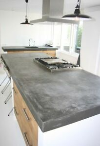 Küchenarbeitsplatte beton  Beton Ciré Kit 3qm² Kochinsel, Küchenarbeitsplatte, Betonoptik ...