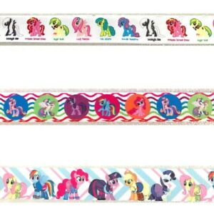Disney-MY-LITTLE-PONY-By-the-yard-Character-Grosgrain-Ribbon-Trim-Scrapbook-Bow