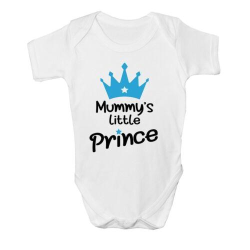 Mamma/'s Little Prince Blue Crown Cute Baby Grow Vest Boys Velvet Newborn Poison