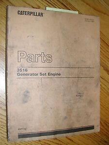 cat caterpillar 3516 parts manual book catalog engine generator 4xf1 rh ebay com Caterpillar 3516 Generator Caterpillar 3516 Water Pump