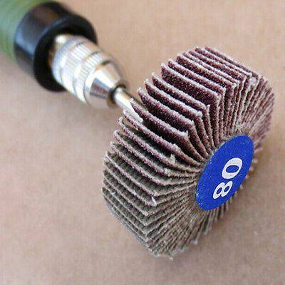 5 Pcs Sanding Sandpaper Flap Wheel Disc 80 Grit Corundum For Rotary Rotary Tools