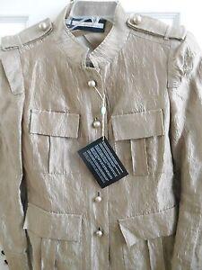 Made Blazer Nwt Blend 12 46 Silk Fabulous In Aquilano us Beige rimondi Italy qRWag4OR