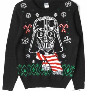 Disney Ugly Christmas Sweater.Details About New Star Wars Darth Vader Holiday Sweater Mens Size S Disney Ugly Christmas Nwt