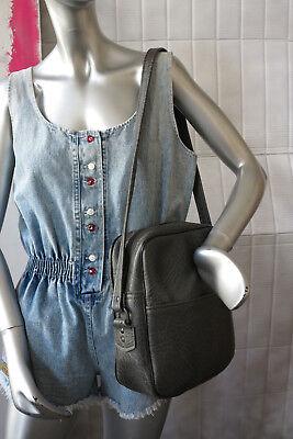 Fashion Style Borsa Tracolla Borsa Borsetta In Pelle Grigi 70er True Vintage 70s Leather Handbag-mostra Il Titolo Originale Caldo E Antivento