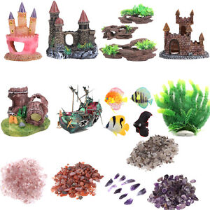 Artificial Resin Plant Trunk Castle Stone Driftwood Decor For