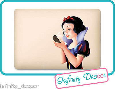 Onesto Adesivo Biancaneve Per Macbook 12 - Stickers Snow White Macbook 12 Fresco In Estate E Caldo In Inverno