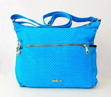 NWT Kipling Roone Perforated Crossbody Bag With Metal Monkey Aquar Perfo