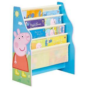 PEPPA PIG SLING BOOKCASE NEW CHILDRENS BEDROOM FURNITURE