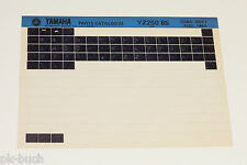 Microfich Ersatzteilkatalog Yamaha YZ 250 ab 1985