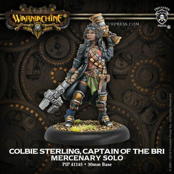 Mercenary Colbie Sterling Captain of the B.R.i.solo Privateer Press Warmachine
