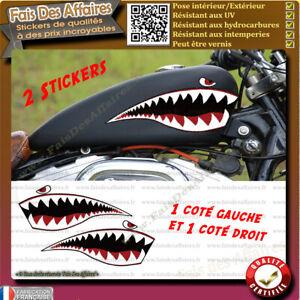 Sticker-Autocollant-dent-de-requin-deco-reservoir-moto-harley-custom-bobber