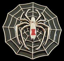 TARANTULA BLACK SPIDER WEB WIDOW GOTHIC PUNK ROCK BELT BUCKLE BOUCLE DE CEINTURE
