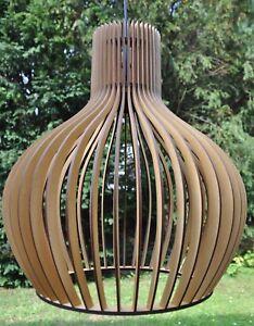 Schirmleuchte-Deckenlampe-Holzleuchte-XXL-Pendelleuchte-Design-Neu-Modern