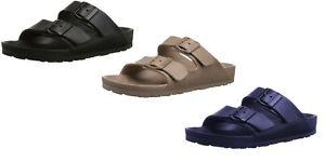 Mens-Double-Strap-Buckle-Slide-Soft-Footbed-Sandal-Beach-Shower-Pool-7-12