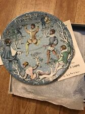 Haviland Limoges The Twelve Days of Christmas Plate Ten Lords A' Leaping 1979