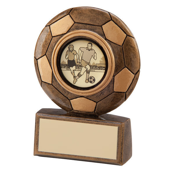 10 x Mini Footy Football Trophy,75mm,MAN OF THE MATCH FREE Engraving RF3069A trd