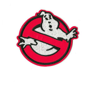 GHOSTBUSTERS-BLACK-Iron-on-Sew-on-Patch-Embroidered-Badge-Cartoon-Ghost-PT580
