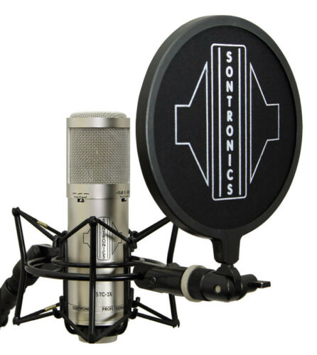 Sontronics STC-3X Pack Condenser Microphone with Accessories NEW Silver