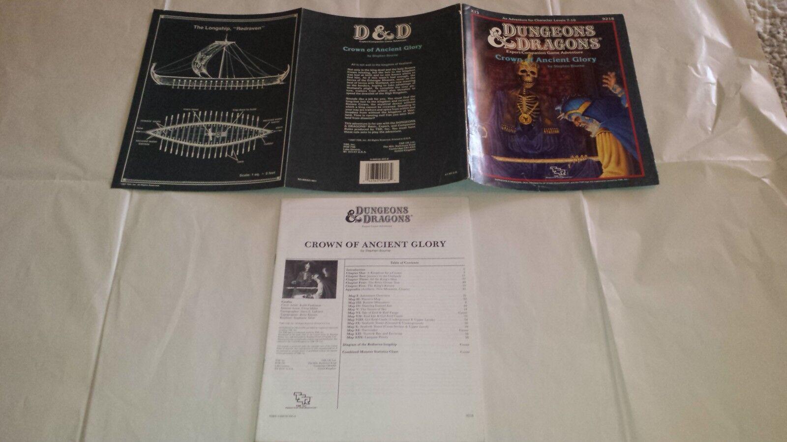 prodotto di qualità X13 CROWN OF ANCIENT GLORY TSR 9218 Dungeons Dungeons Dungeons & Dragons D&D adventure  vendite online