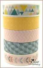 MAXI LOT Masking tape (x5) Masking Tape Artemio SCANDISWEET SCANDINAVE DECO DIY