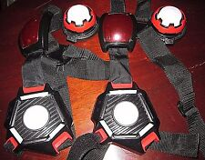 2 WOWWEE Light Strike Laser Lazer Tag Vest Chest Shield & Targets
