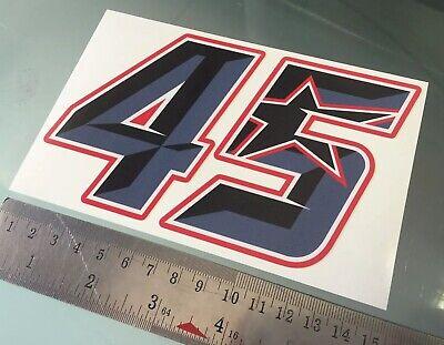 MotoGP BSB decal *Black Michael Laverty  #70 Race Number sticker 100mm high