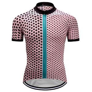 49da67cf2b Mens Road MTB Cycling Jersey Bike Shirt Short Sleeve Tops Clothing ...