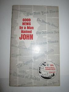 "1969 IDAHO NATIONAL JAMBOREE ""GOOD NEWS BYA MAN NAMED JOHN"" BOOKLET -  TUB RH-3"