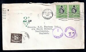 Jamaica-1961-Postal-History-Cover-2d-Postage-Due-To-Pay-WS18221