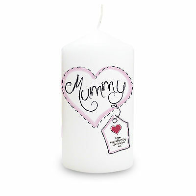 PERSONALISED Mum Mummy Nan Sister CANDLE Gifts Present for Birthday Mothers Day